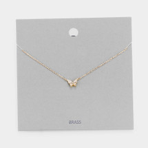 Tiny Butterfly Necklace: Gold Or Silver