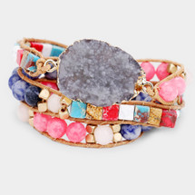 Madrid Druzy Wrap Bracelet/Necklace In One