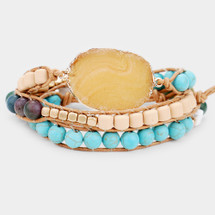 Sedona Natural Stone Wrap Bracelet/Necklace In One