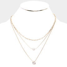 Sweet Layers Necklace: Gold Or Silver