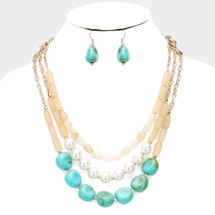Chunky Turquoise Layered Necklace