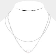 Freshwater Pearl Layered Necklace: Gold Or Silver