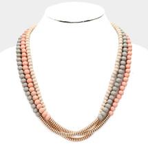 Mauve Tones Layered Necklace