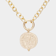 Reversible Coin Necklace: Gold Or Silver