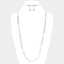Long Links Chain Necklace: Gold Or Silver