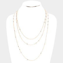 Tiny Stars Layered Long Neckalce: Gold Or Silver