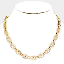 Multi Oval Lins Necklace: Gold Or Silver