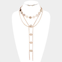Coin Y Statement Necklace: Gold OR silver