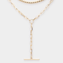 Blake Layered Drop Necklace: Gold Or Silver