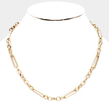 Chained Up Classic Chain Necklace: Gold Or Silver