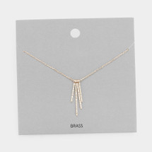 Hammered Bars Necklace: Gold Or Silver