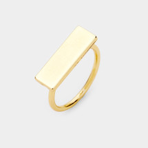 Bar Ring: Gold Or Silver