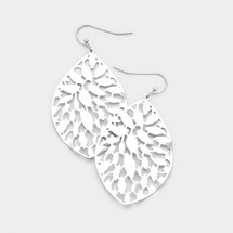 Filigree Teardrop Earrings: Gold Or Silver