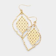 Double Pattern Drop Earrings
