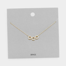 Delicate Triple Circles Necklace: Gold OR Silver