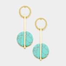 Turquoise Bar Drop Earrings