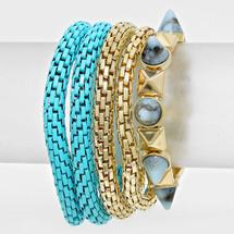 Blue Layers Bracelet Set