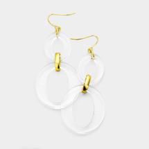 Clear Link Earrings