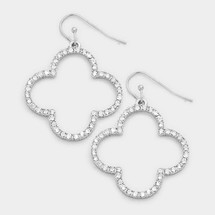 Quatrefoil Clover Earrings: Gold Or Silver