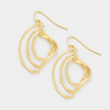 Curved Marquise Earrings: Gold Or Silver
