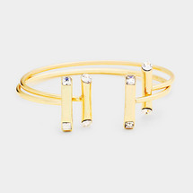 Double Bar Cuff Set: Gold Or Silver