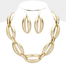 Chunky Links Necklace: Gold Or Silver