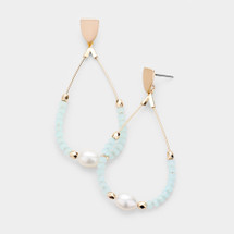 Minty Pearl Earrings