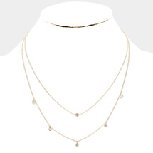 Layered Station Necklace: Gold Or Silver