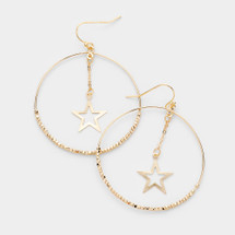 Circle Star Hoops: Gold Or Silver