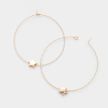 Thin Star Hoops: Gold Or Silver