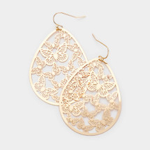 Butterfly Teardrop Earrings: Gold Or Silver