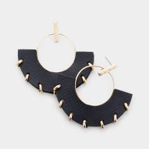 Noir Open Circle Earrings