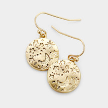 Celestial Disc Earrings: Gold Or Silver