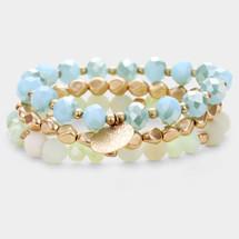 Ocean Tides Semi Precious Bracelet Set