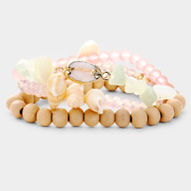 Pink Sands Shell Bracelet Set