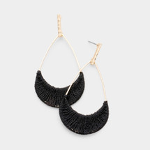 Black Threaded Earrings
