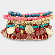 Multi-Colored Super Bracelet Stack