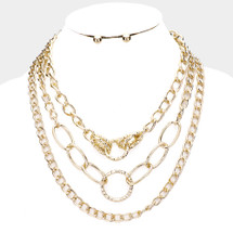 Chain Link Layered Necklace