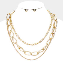Triple Layer Links Necklace