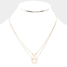 Heart Layered Necklace: Gold Or Silver