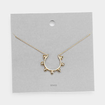 Half Circle Spiked Necklace: Gold Or Silver