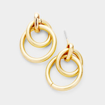 Layered Tube Hoop Earrings: Gold OR Silver