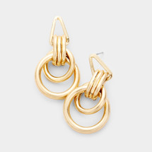 Layered Tube Hoops: Gold Or Silver