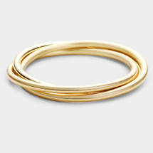 Multi-Layered Bangle Bracelet: Gold Or Silver