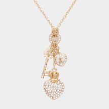 Heart Lock & Key Necklace: Gold Or Silver