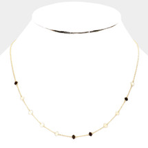 Delicate Station Necklace: Gold OR Silver