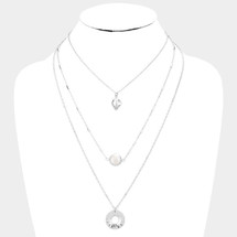 Layered Mother Of Pearl Necklace