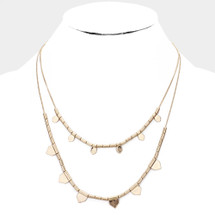 Two Row Cleo Necklace: Gold Or Silver