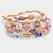 Sunset At The Beach Semi Precious Bracelet Set