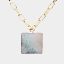 Amazonite Semi Precious Link Necklace